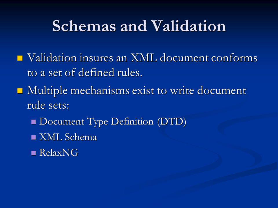 Schemas and Validation