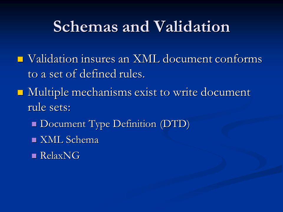 Schemas and Validation