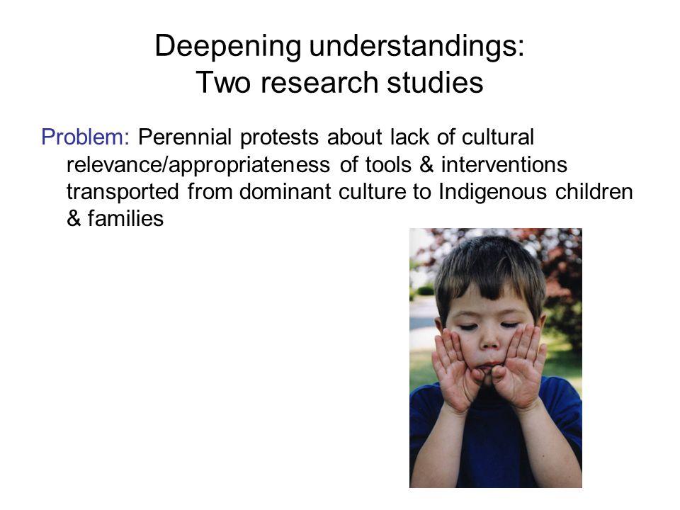 Deepening understandings: Two research studies