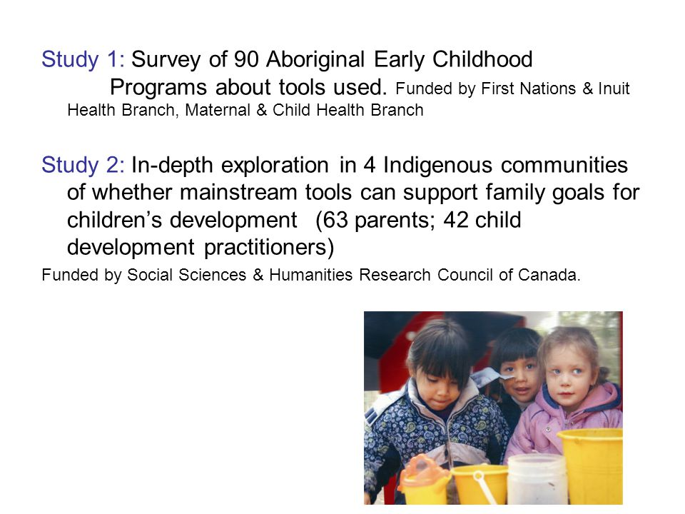 Study 1: Survey of 90 Aboriginal Early Childhood