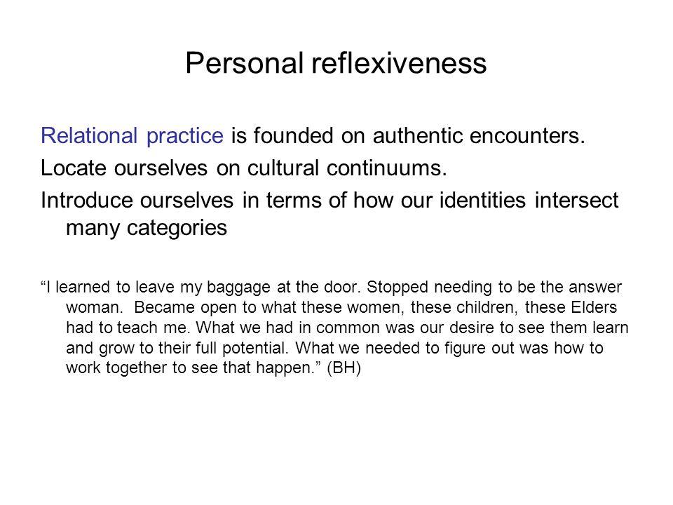 Personal reflexiveness
