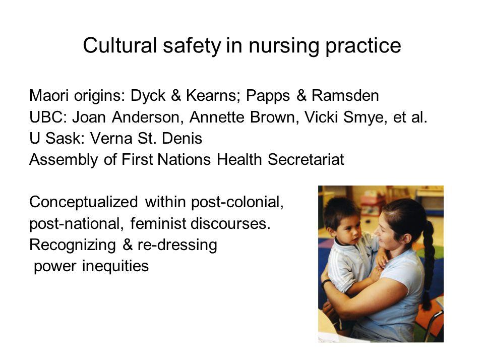Cultural safety in nursing practice