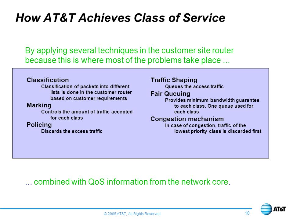 How AT&T Achieves Class of Service
