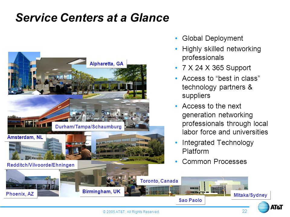 Service Centers at a Glance