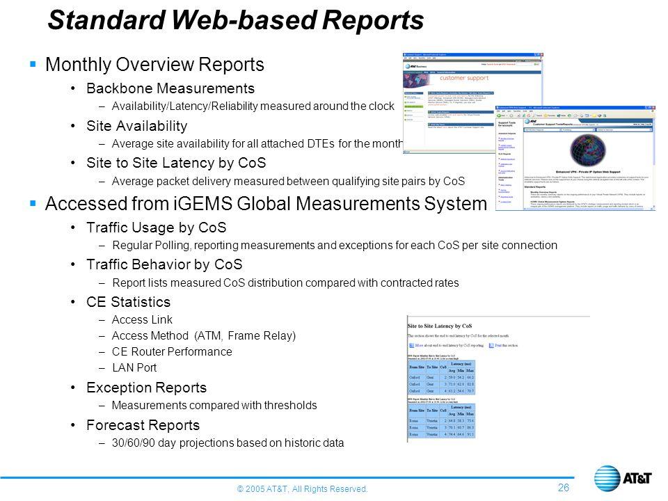Standard Web-based Reports