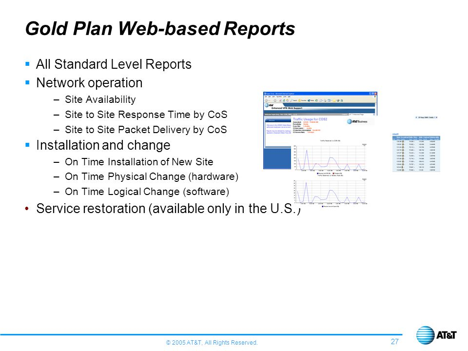Gold Plan Web-based Reports