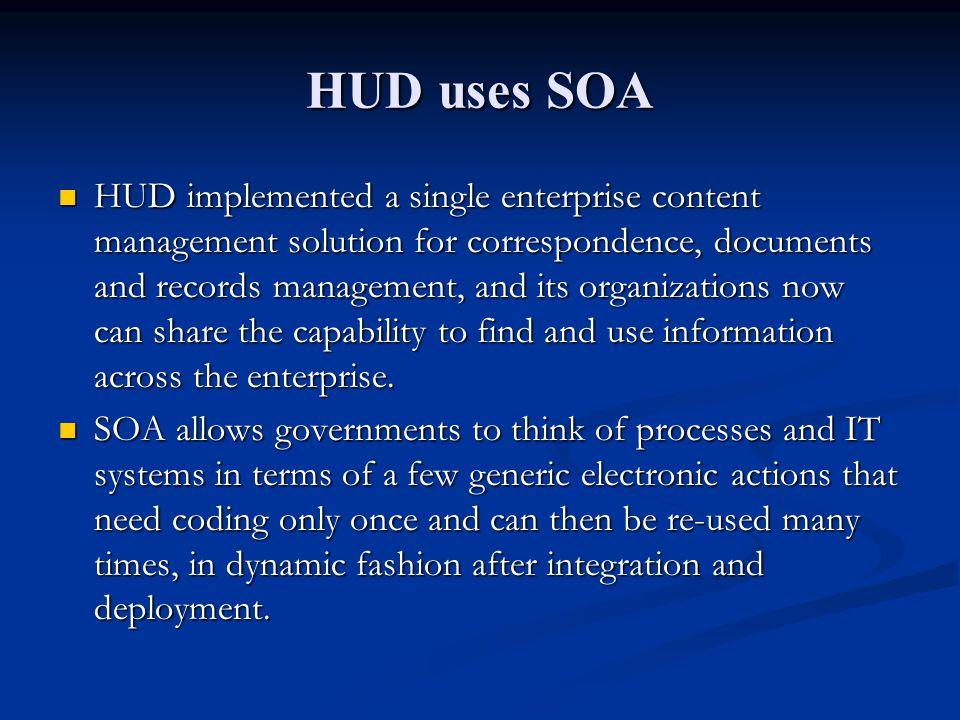 HUD uses SOA
