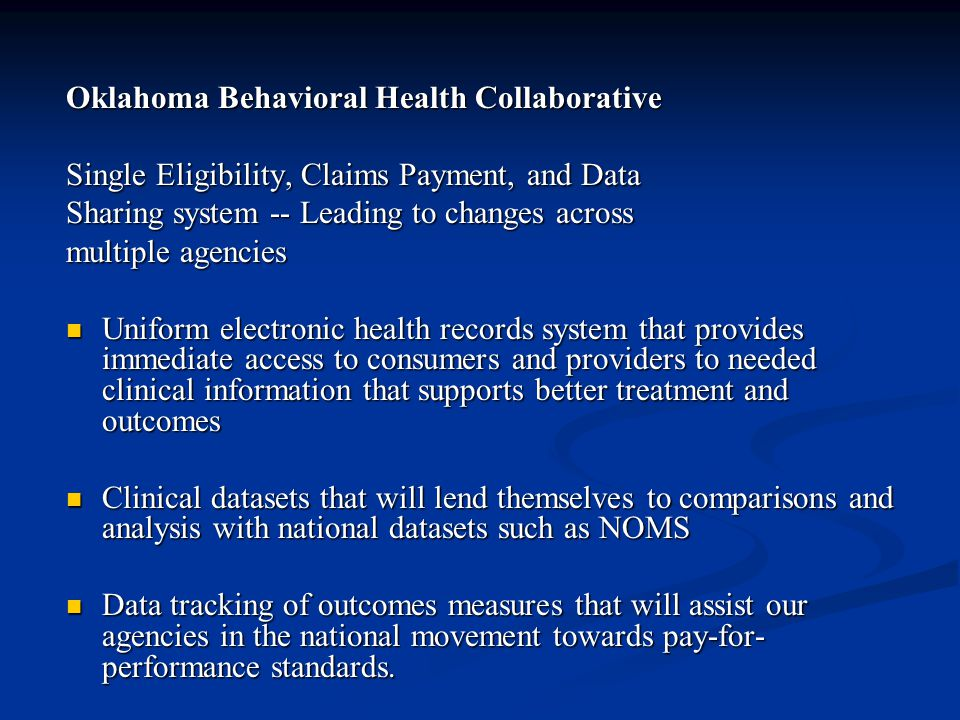 Oklahoma Behavioral Health Collaborative