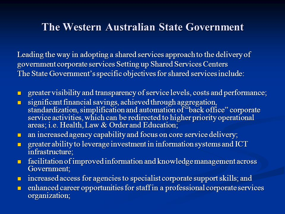The Western Australian State Government