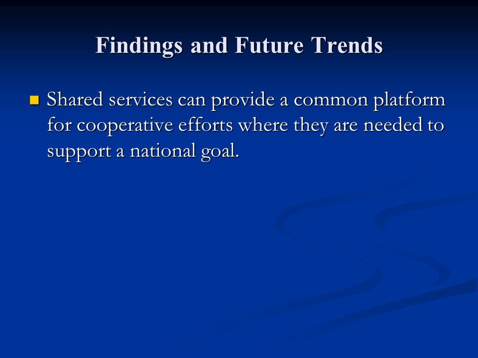 Findings and Future Trends