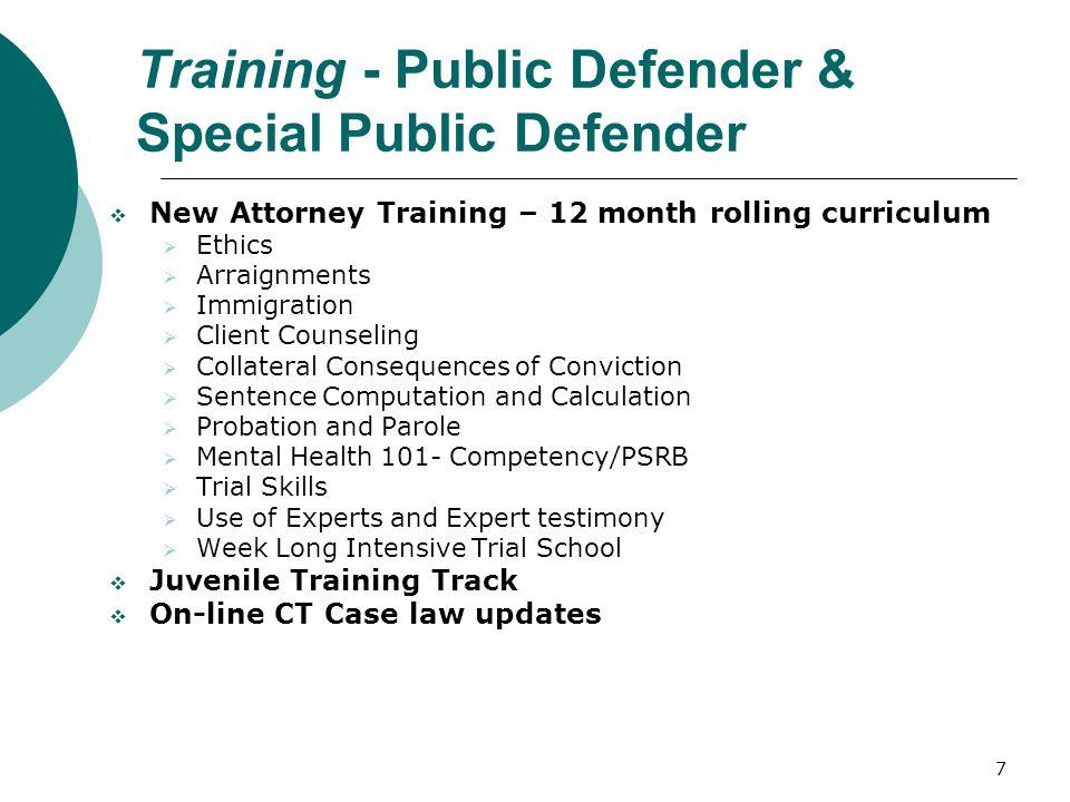 Training - Public Defender & Special Public Defender