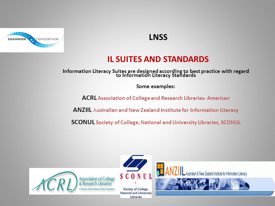 LNSS IL SUITES AND STANDARDS