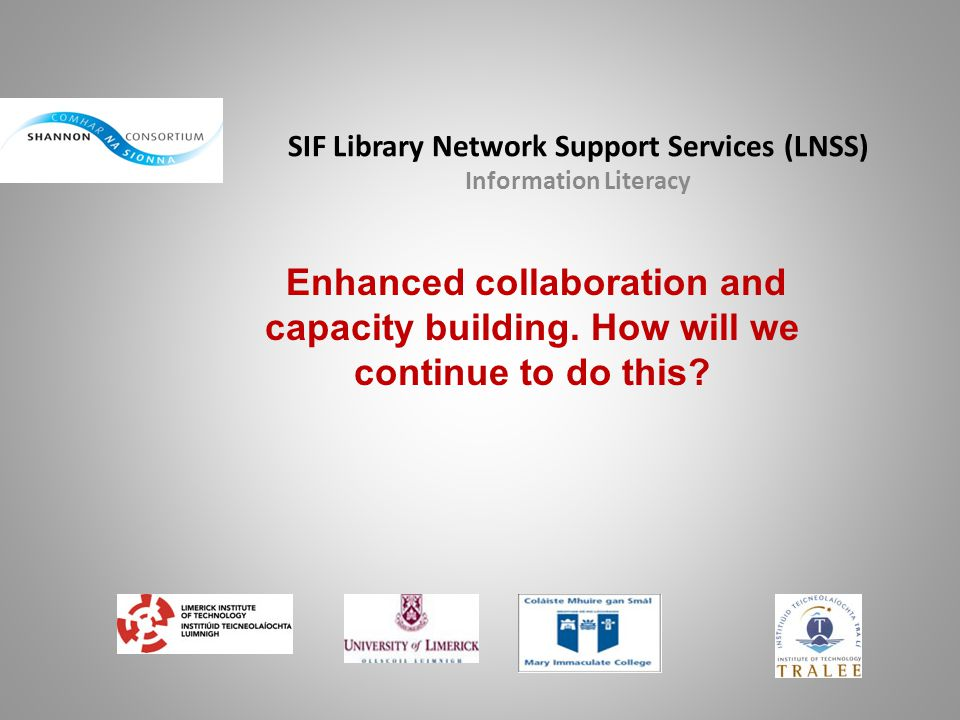SIF Library Network Support Services (LNSS) Information Literacy