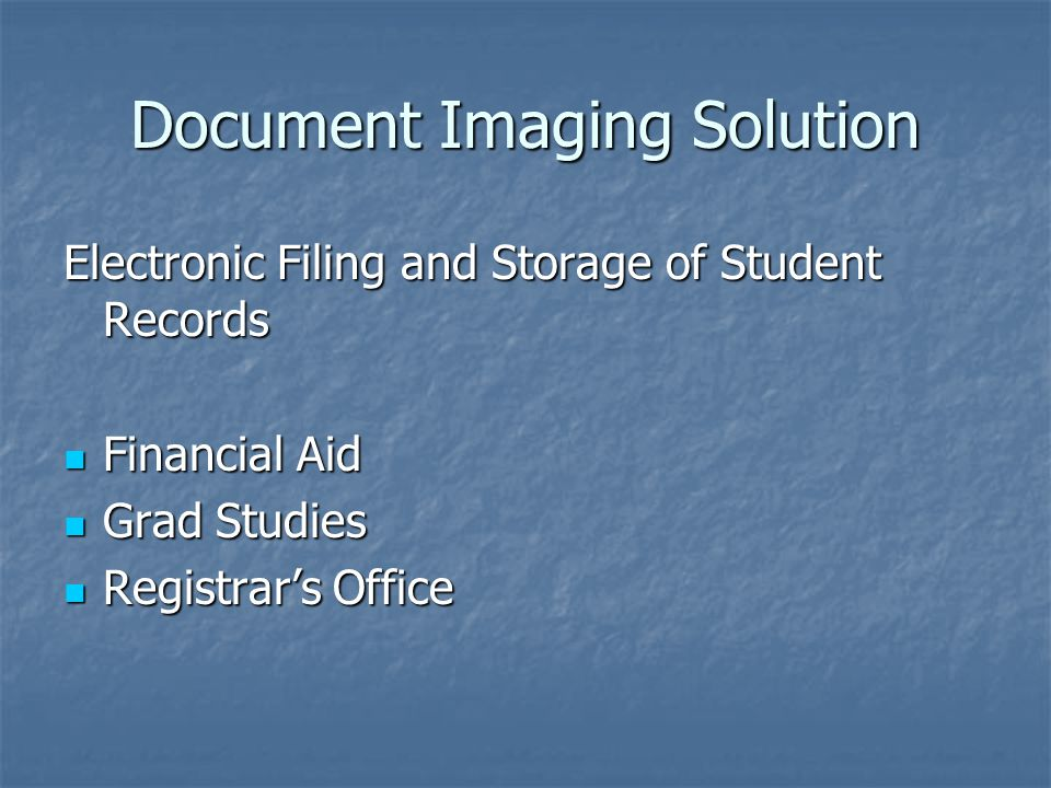Document Imaging Solution