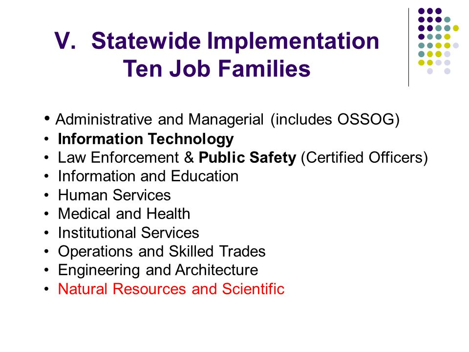 Statewide Implementation