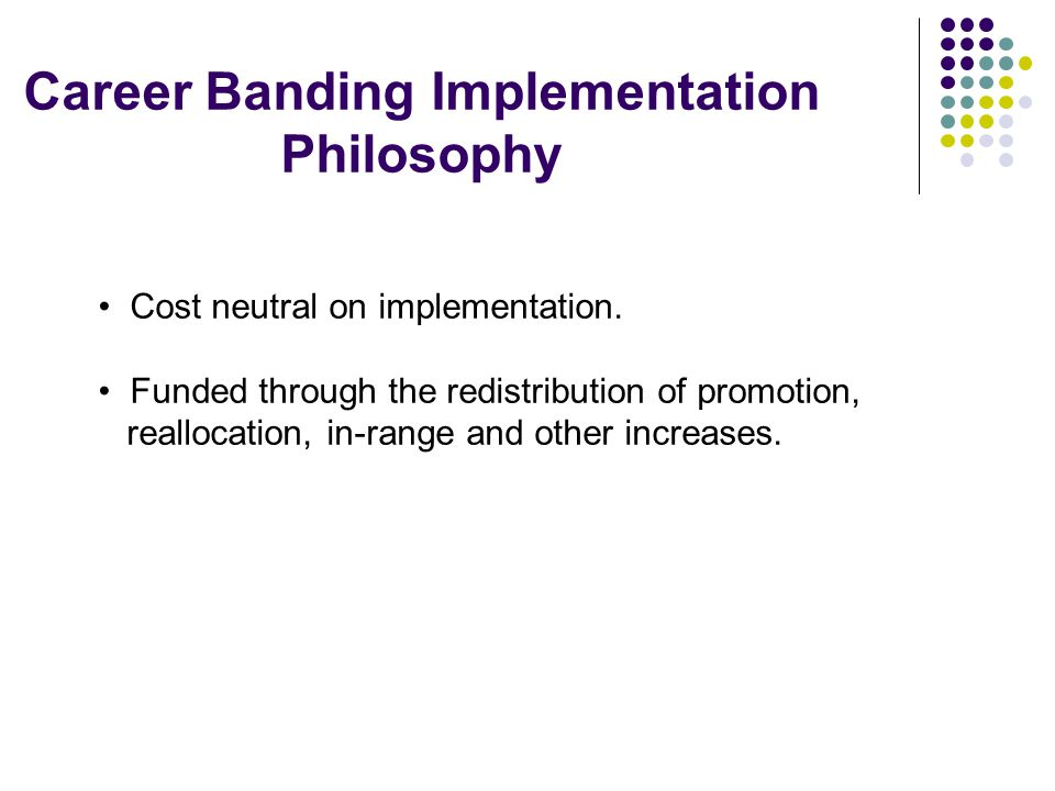 Career Banding Implementation Philosophy