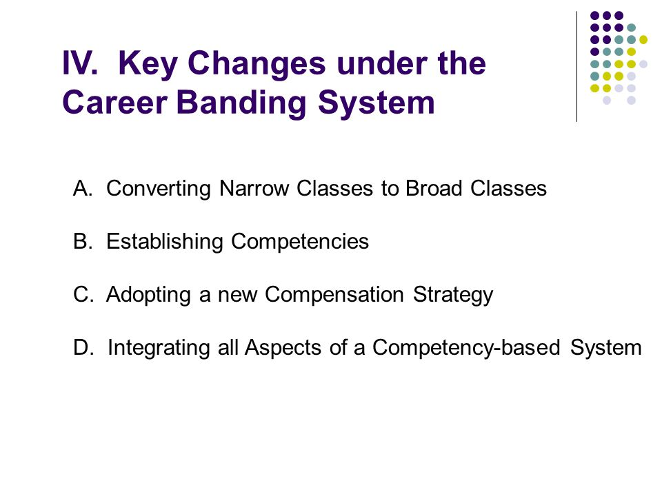 IV. Key Changes under the Career Banding System