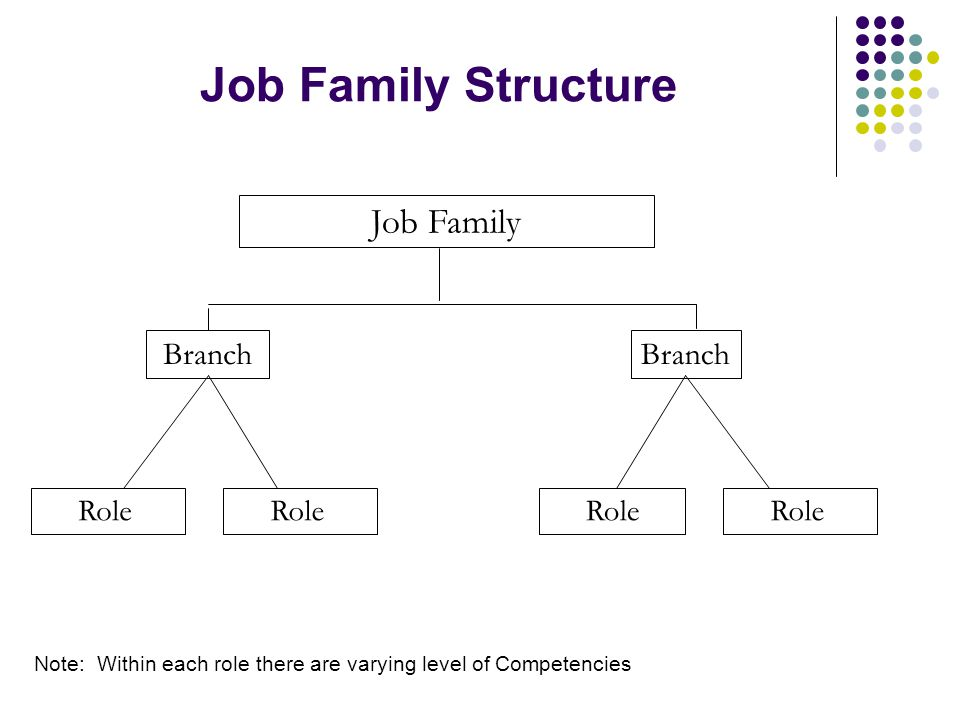 Job Family Structure Job Family Branch Branch Career Path Structure