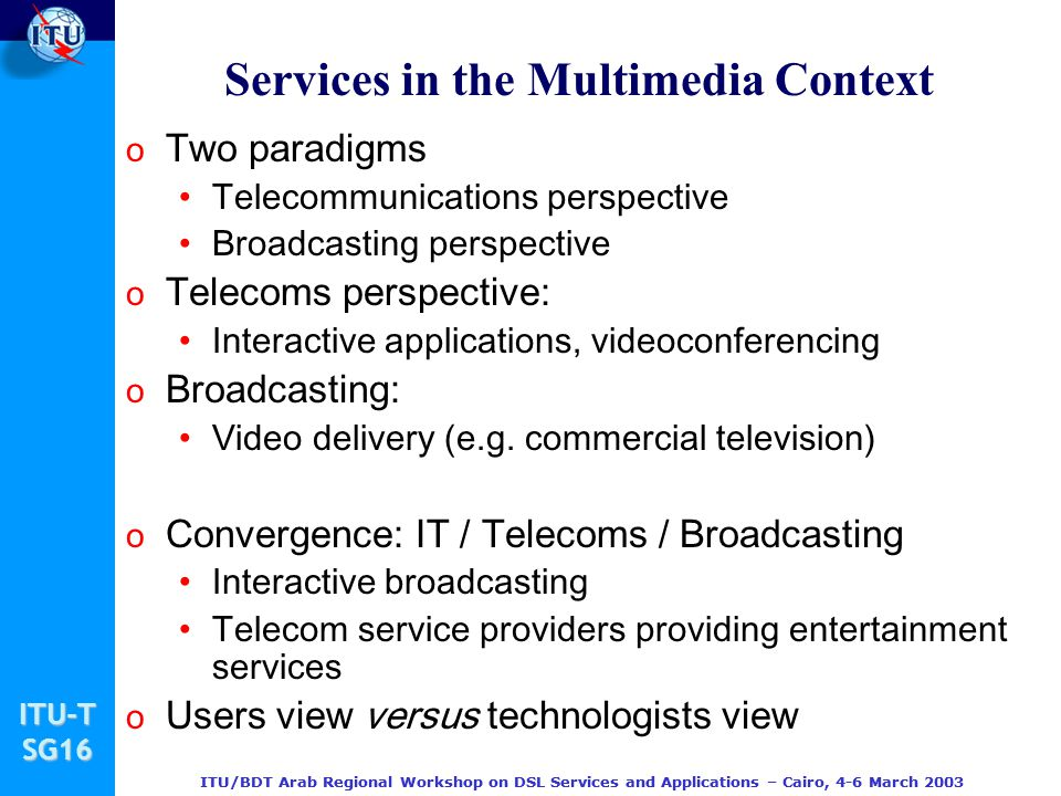 Services in the Multimedia Context