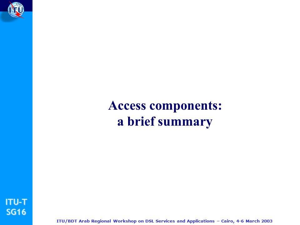 Access components: a brief summary