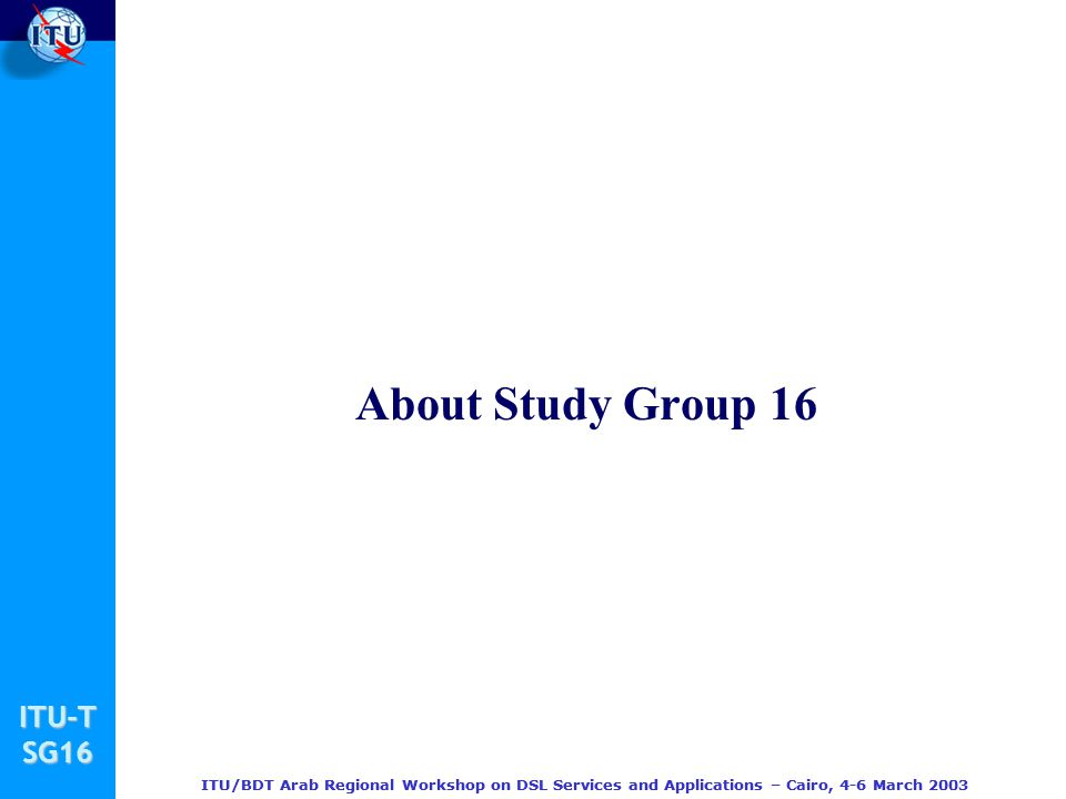 About Study Group 16