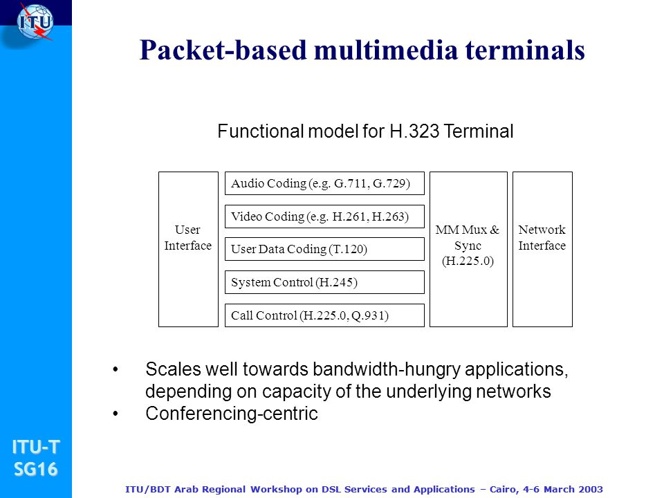 Packet-based multimedia terminals