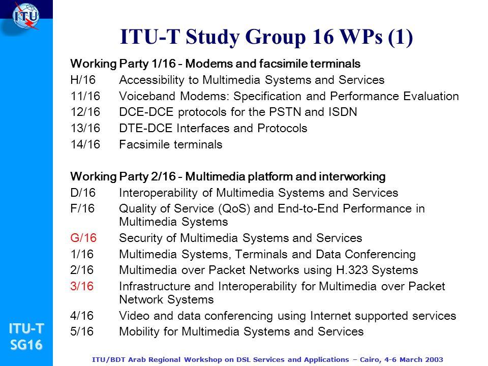 ITU-T Study Group 16 WPs (1)
