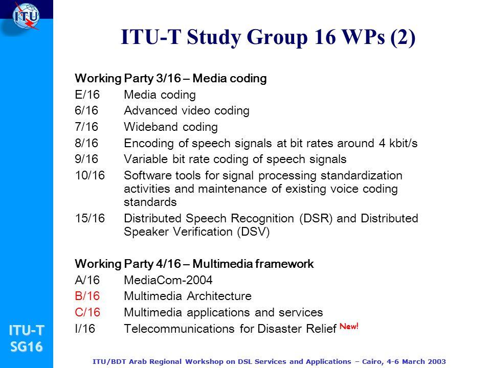 ITU-T Study Group 16 WPs (2)