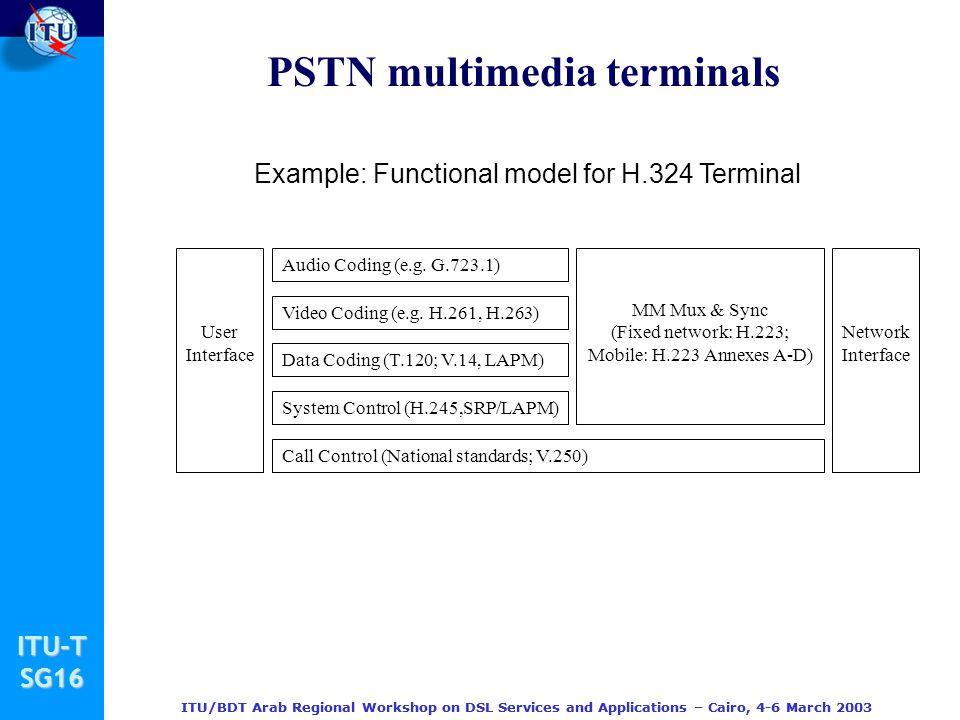 PSTN multimedia terminals