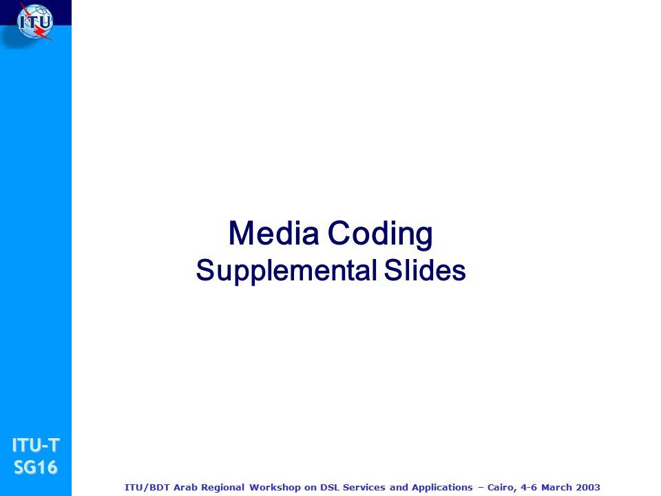 Media Coding Supplemental Slides