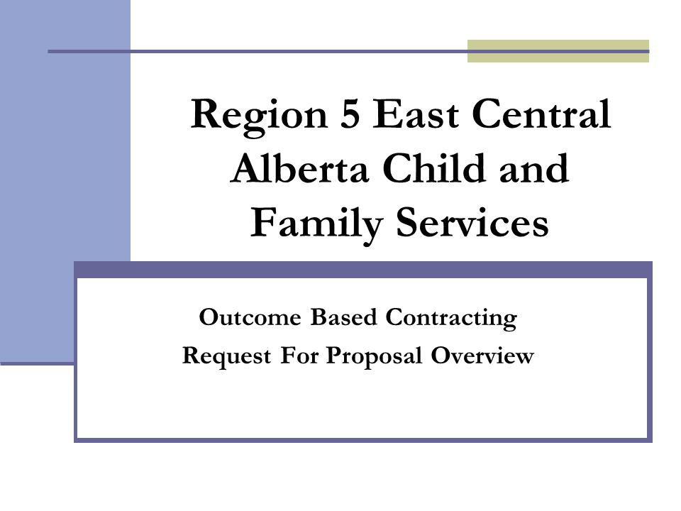 Region 5 East Central Alberta Child and Family Services