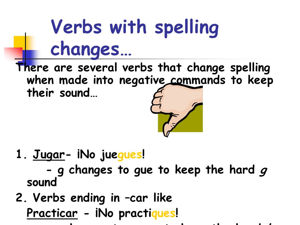 Verbs with spelling changes…
