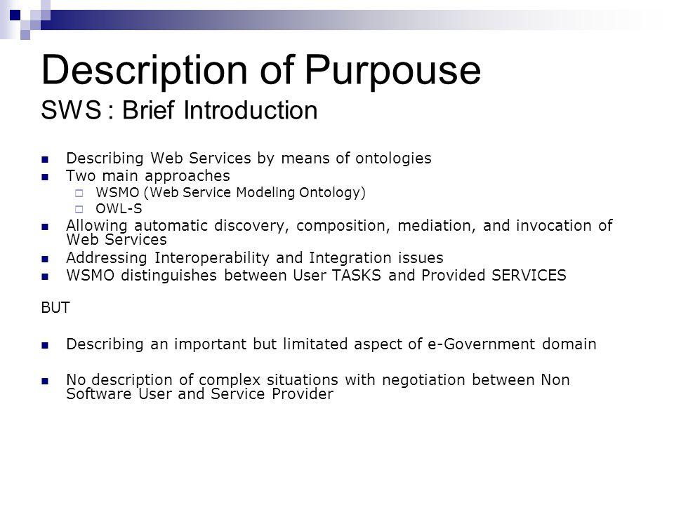 Description of Purpouse SWS : Brief Introduction