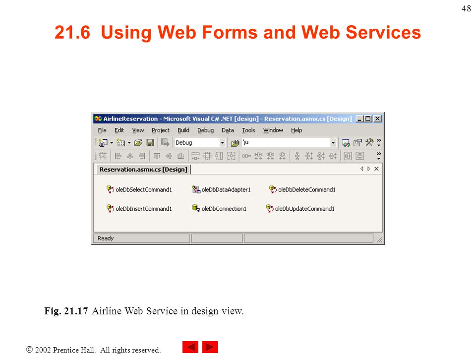 21.6 Using Web Forms and Web Services