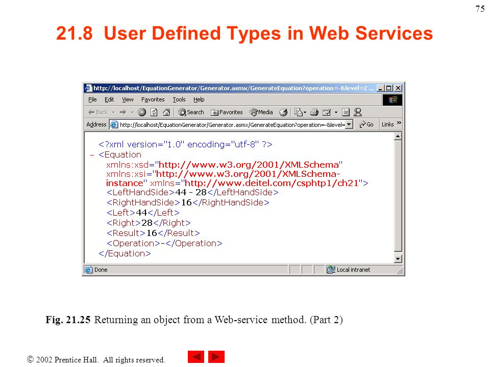 21.8 User Defined Types in Web Services
