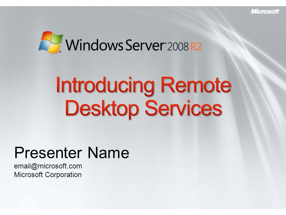 Introducing Remote Desktop Services