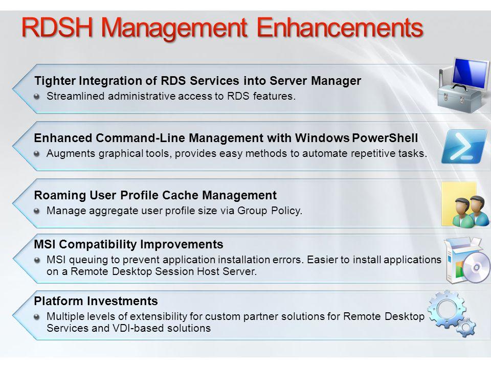 RDSH Management Enhancements