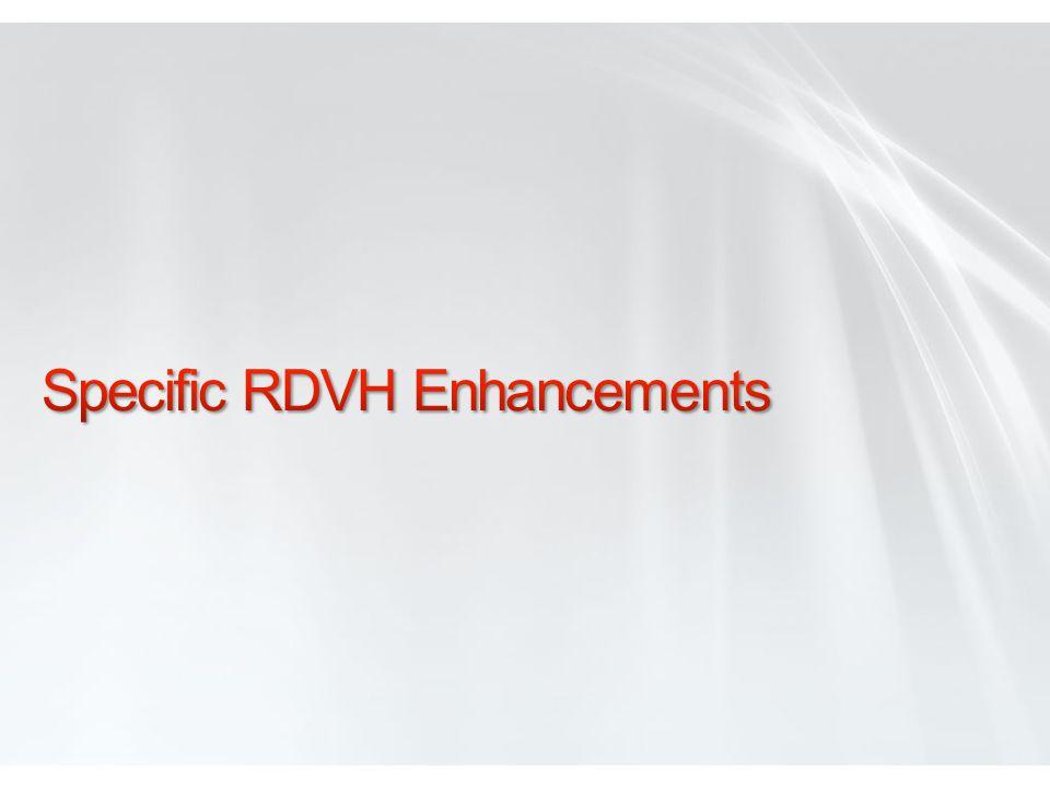 Specific RDVH Enhancements