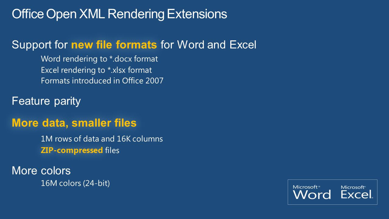 Office Open XML Rendering Extensions