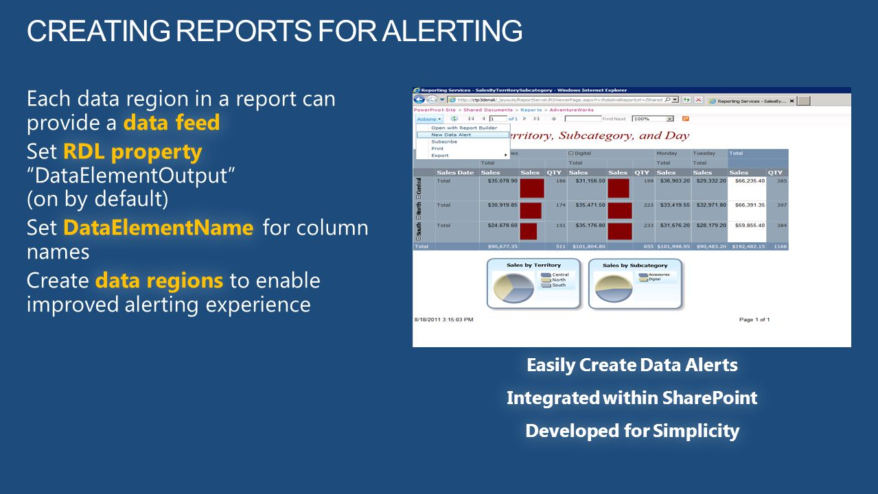 Creating Reports for Alerting