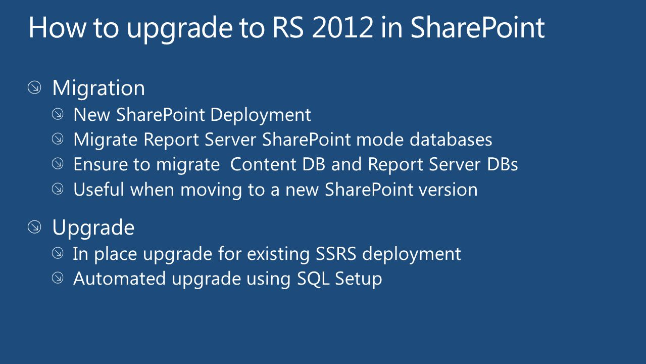 How to upgrade to RS 2012 in SharePoint