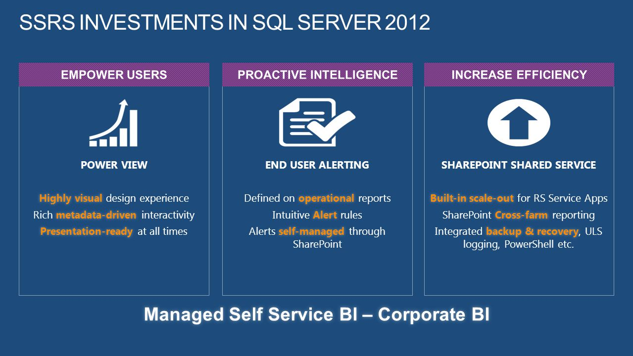 SSRS Investments in SQL Server 2012