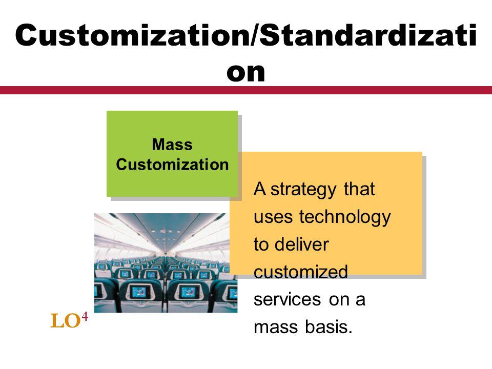 Customization/Standardization
