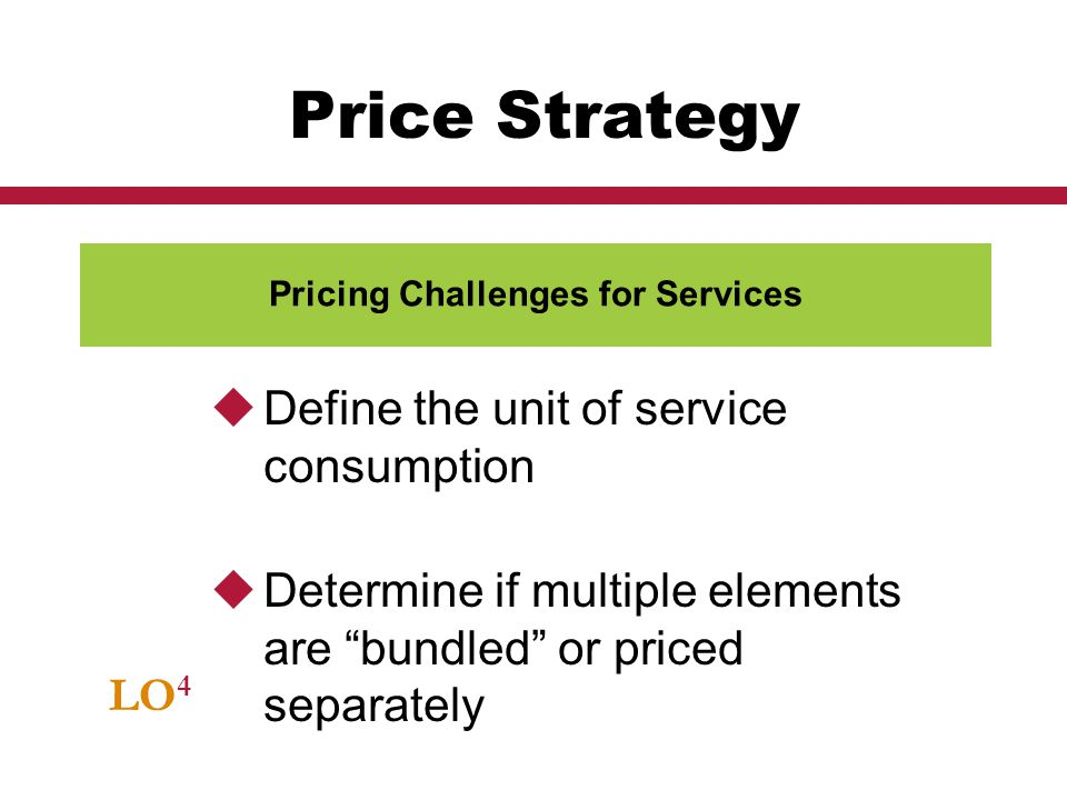 Pricing Challenges for Services