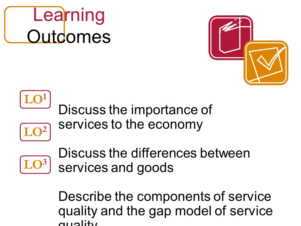 Learning Outcomes Discuss the importance of services to the economy