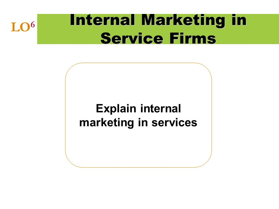 Internal Marketing in Service Firms