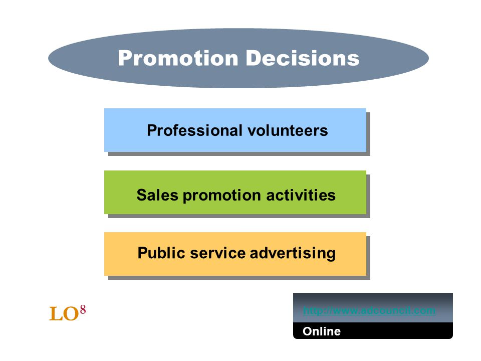 Promotion Decisions LO8 Professional volunteers