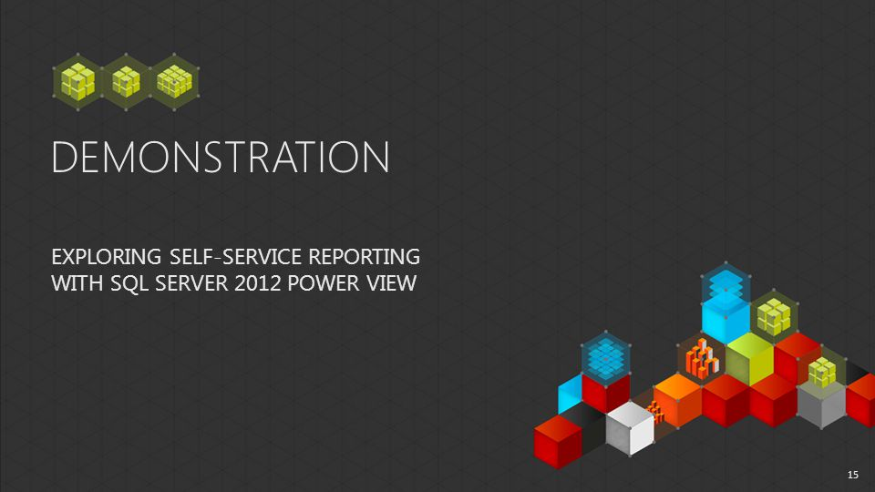 DEMONSTRATION EXPLORING SELF-SERVICE REPORTING WITH SQL SERVER 2012 POWER VIEW