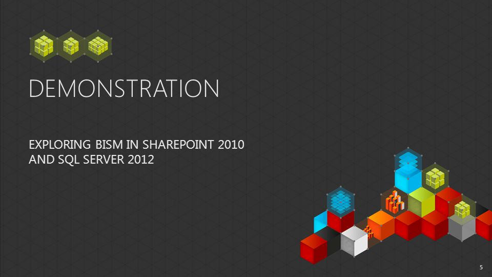 DEMONSTRATION EXPLORING BISM IN SHAREPOINT 2010 AND SQL SERVER 2012