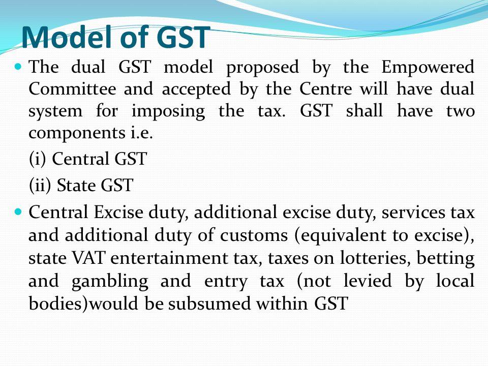 Model of GST